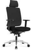 Scaun de birou ergonomic piele eco negru Insignia
