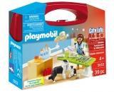 Set portabil In Vizita la Veterinar Carry Case Playmobil