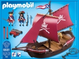 Barca Soldatilor cu Tun Pirates Playmobil