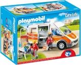 Ambulanta cu lumini si sunete City Life Kids Clinic Playmobil