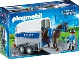 Remorca cu cal Police Playmobil