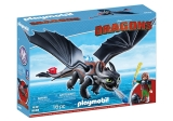 Hiccup si Toothless Dragons Playmobil
