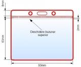 Suport card din PVC, orizontal, transparent