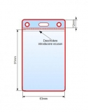 Suport card din PVC, vertical, transparent, 90 x 60 mm