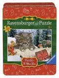 Puzzle Craciun - Pisicuta in zapada, 80 piese Ravensburger