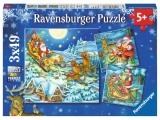 Puzzle Craciun Magic, 3 X 49 piese Ravensburger