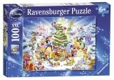 Puzzle Craciunul in familia Disney Ravensburger