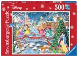 Puzzle Craciunul printeselor Disney 500 piese Ravensburger