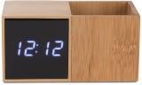 Ceas de birou cu suport pentru pixuri Bamboo