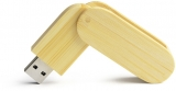 Stick USB personalizabil 16GB maro BAMBOO