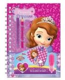 Set jurnal personal + creion, pix, radiera, carioca Printesa Sofia