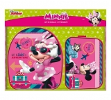 Set ghiozdan + penar Minnie