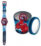 Ceas analogic in cutie metalica Spiderman