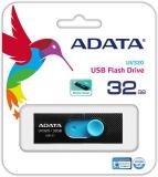 Memorie USB UV320, 32 GB, USB 3.1, negru/albastru Adata
