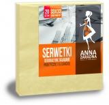 Servetele de masa 33 x 33 cm, galben pastel, 3 str. 20 buc/set Ana