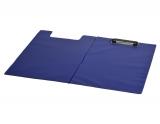 Clipboard plastic dublu A4 tip L albastru