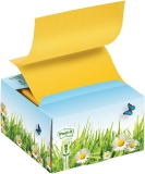 Dispenser notite adezive Post-It 3M din carton cu ventuza 76 x 76 mm