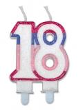 Lumanare numarul 18 Sweet Rosa Big Party