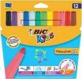 Carioci 12 culori lavabile Visacolor XL Bic
