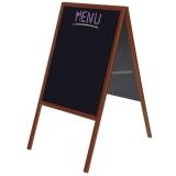 Panou stradal de tip A, Blackboard, rama lemn, 53 x 120 cm Franken