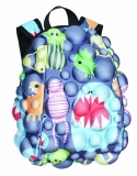 Rucsac 46 cm Full Bubble Surfaces Monsters on Grrray Madpax