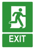 Sticker laminat Exit