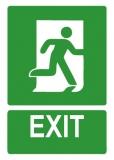 Sticker laminat Exit
