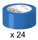 Cutie 24 bucati banda de marcat 50 mm x 33 m albastru