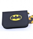 Penar Neechipat 1 fermoar 2 compartimente negru simplu Batman Pigna