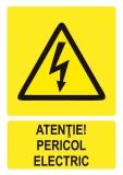 Sticker laminat Pericol electric