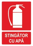 Sticker laminat Stingator apa