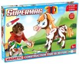 Supermag 3D - Jucarie Cu Magnet Ponei Supermag