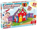 Supermag 3D - Jucarie Cu Magnet Casuta - 60 Piese Supermag