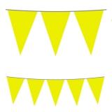 Ghirlanda Fanioane din plastic galben 5 m x 25 cm Big Party