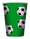 Pahare de unica folosinta 10/set 200ml minge de fotbal verde Big Party