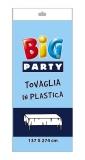 Fata de masa din plastic albastru deschis 137 x 274 cm Big Party