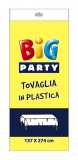 Fata de masa din plastic galbena 137 x 274 cm Big Party