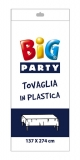Fata de masa din plastic alba 137 x 274 cm Big Party