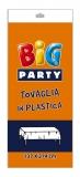 Fata de masa din plastic portocalie 137 x 274 cm Big Party