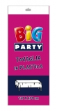 Fata de masa din plastic fuchsia 137 x 274 cm Big Party