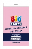 Fata de masa din plastic roz 73 x 426 cm Big Party