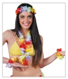 Set bratari cu coronita si colier Flower Hawaii Big Party