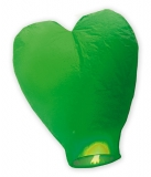 Lampion inima verde 100 cm Big Party