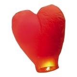 Lampion rosu in forma de inimioara 100cm Big Party