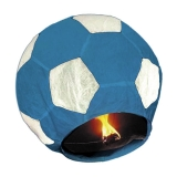 Lampion minge de fotbal albastra 100 cm Big Party
