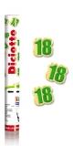 Tun confetti 30 cm numarul 18 verde Big Party