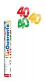 Tun confetti 30 cm numarul 40 culori asortate Big Party