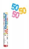 Tun confetti 30 cm numarul 50 culori asortate Big Party