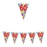 Ghirlanda Fanioane din plastic culori asortate 6 m  x 25 cm numarul 60 Big Party