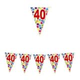 Ghirlanda Fanioane din plastic culori asortate 6 m  x 25 cm numarul 40 Big Party